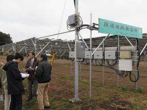 市民共同出資型ソーラーシェアリング発電所視察