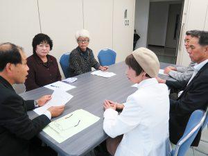 台風18号による豪雨災害について県に申し入れ