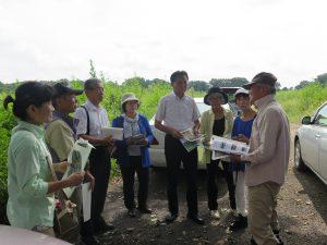 豊かな自然を残して ~鶴ヶ島市の農業大学校跡地を視察して~