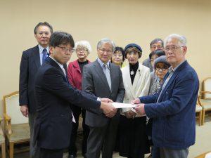 オスプレイ横田配備の中止を国に求めて 平和委が県要請
