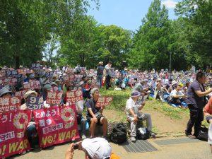 「戦争させない!9条守ろう」、北浦和公園に1万3500人の熱気