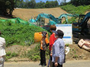 メガソーラー開発による土砂流出現場視察 小川町・越生町